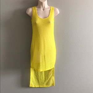LF Yellow One Size High Low Dress